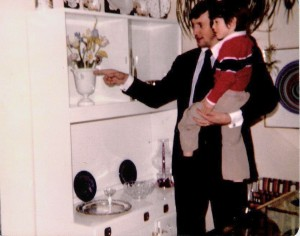 With Andrew Toronto Showroom Royal Worcester - 1976