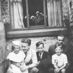 Uncle Jack, Cousin Reg, Uncle Ralph, Diane & Me c1948