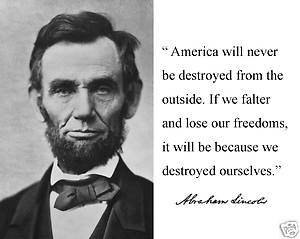 Abraham Lincoln quote ..