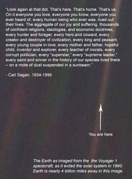 Earth from 4 billion miles...