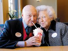 Together at the opening of the first Chick-fil-A here in Flower Mound, Texas, in 2011