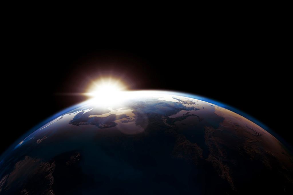 Earth and sunrise...