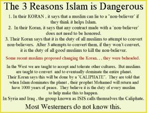 3 Dangerous aspects of Islam ...
