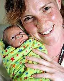 Baby Danae and mum...