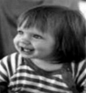 Baby Danae black and white...