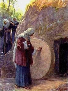 He is not here .. He is risen!