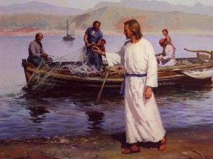Jesus calming the waters...