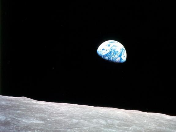 Earthrise from Apollo 8 , December 24th 1968...