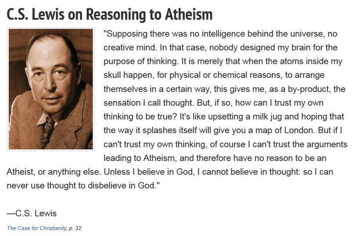 C. S. Lewis on atheism...