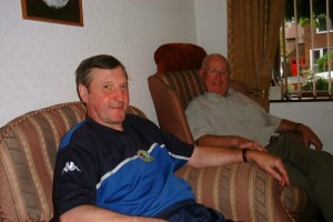 Me and Jack at his home July 2004 at the age of 78 always hale and hearty...