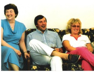Jack's wife Florrie, me, and cousin Janice.. c.1984