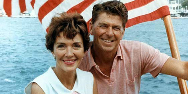 Nancy and Ronnie Reagan...
