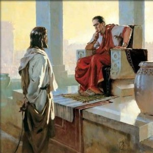 Jesus before Pilate...