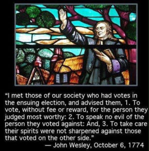 John Wesley on voting