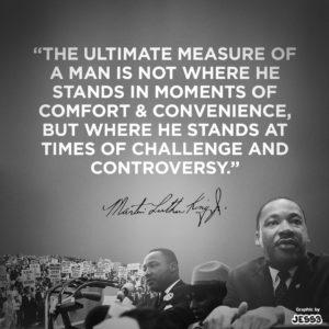 MLK on challenge...
