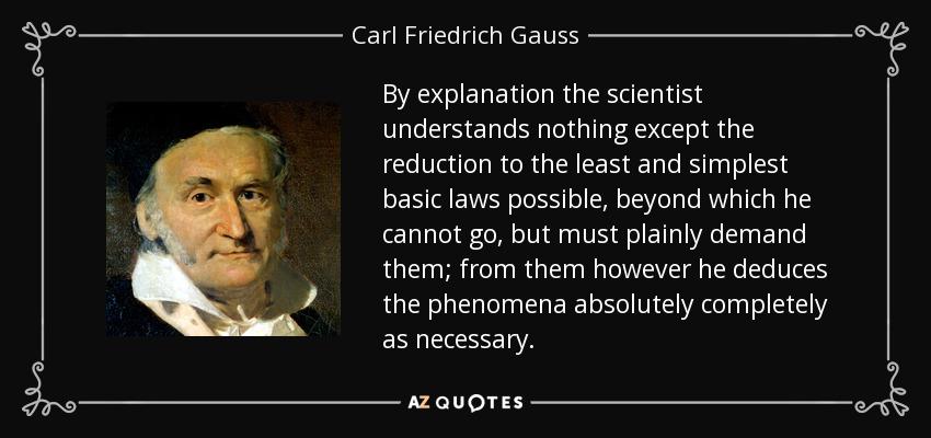 Carl Friedrich Gauss ...
