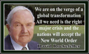 David Rockefeller and NWO Aug 6 2016...
