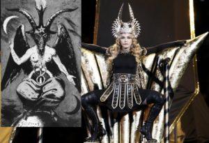 Madonna as Satanic Baphomet Super Bowl 2014...